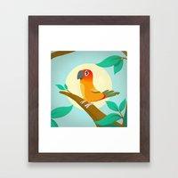 Sun Conure Framed Art Print