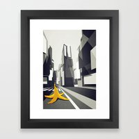 No taxi's in New York Framed Art Print