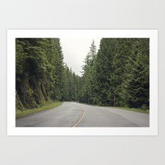lonely road. Art Print