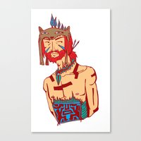 Tribal Man Canvas Print