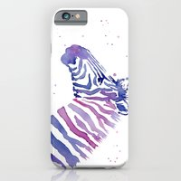 Zebra Watercolor Purple Stripes iPhone 6 Slim Case