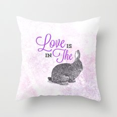 Love is in the hare. Throw Pillow