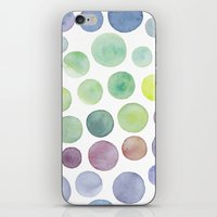 Dots purple and green iPhone & iPod Skin