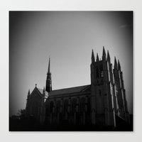 Woodward Ave Cathedral Canvas Print