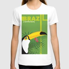 Brazil [rainforest] Womens Fitted Tee White SMALL