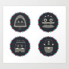 monster & iCOn Art Print