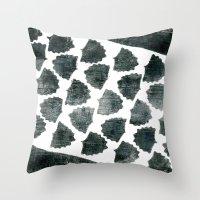 Grey Maple Print Throw Pillow