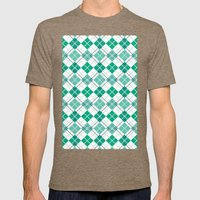 Emerald Argyle Mens Fitted Tee Tri-Coffee SMALL