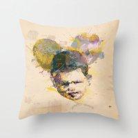 Micky Kid. Throw Pillow