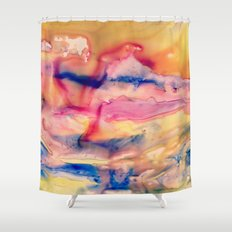 Unicorn Blood and Melted Popsicles Shower Curtain