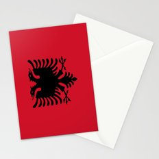 flag of Albania Stationery Cards