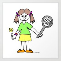 Tennis Girl Art Print