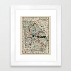 Terminus Map Framed Art Print