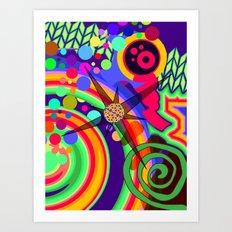 Spirals and Dots Art Print