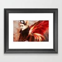 Upon Red Wings Framed Art Print
