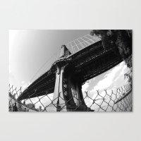 Under The Manhattan Brid… Canvas Print