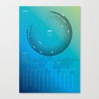 Bureau Oberhaeuser Calen… Canvas Print