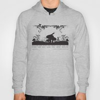 Alice's Adventures In Wonderland Black and White Illustrated Quote Hoody