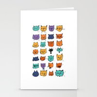 Stylish Cats Stationery Cards
