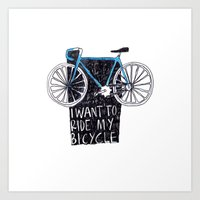 My Bicycle Art Print