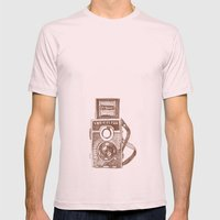 Camera Sketch 3 Mens Fitted Tee Light Pink SMALL