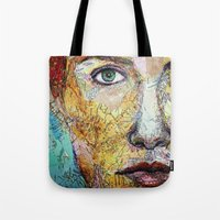 Map Self Portrait Tote Bag