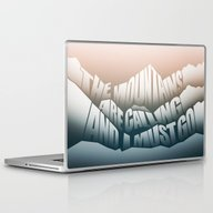 The Mountains Are Callin… Laptop & iPad Skin