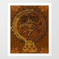 Shiva Mosaic Art Print