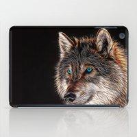 Wolf Painting - Night Watch iPad Case