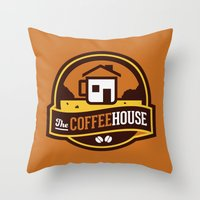 Coffee House Throw Pillow