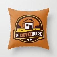 Coffee House Throw Pillow
