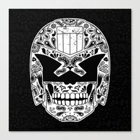 Day Of The Dredd - Black Canvas Print