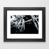 Night Laundry Framed Art Print
