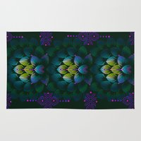 Variations on A Feather IV - Stars Aligned (Primeval Edition) Rug