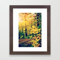 Sunshine on my Shoulders Framed Art Print