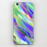 Colorful digital art splashing G401 iPhone & iPod Skin