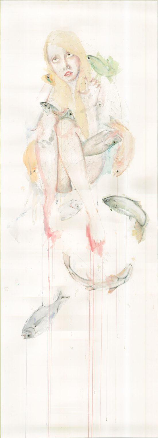 Genesis and the Little Mermaid Art Print
