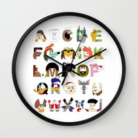 Child Of The 70s Alphabe… Wall Clock