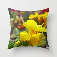 Nature blossoming Throw Pillow