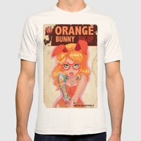 Oranges Bunny PIN UP Mag… Mens Fitted Tee Natural SMALL