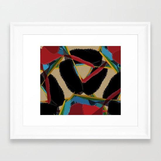 Floral Madness & Chipboard Framed Art Print
