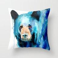 Throw Pillow featuring American Black Bear by Slaveika Aladjova