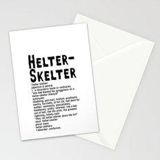 Helter Skelter (black on White) Stationery Cards