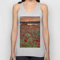 Poppies At The Lake At S… Unisex Tank Top