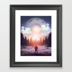 Waiting for the Sun to Rise Framed Art Print
