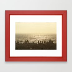 Sailboat - Marina del Rey, CA Framed Art Print