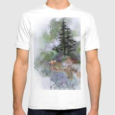 Walk to the Point White SMALL Mens Fitted Tee
