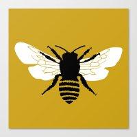 Bee World Canvas Print