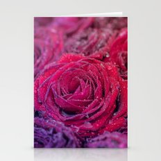 Bed of darked roses Stationery Cards