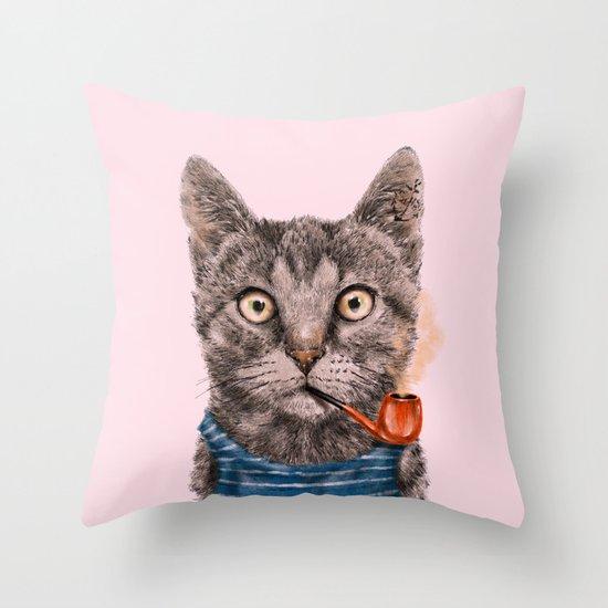 Sailor Cat IX Throw Pillow